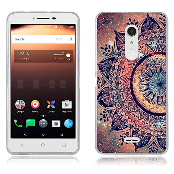 super popular c0b5d 66a4e Alcatel A3 XL Case,(6.0 inch) Soft TPU Bumper [Drop Protection/Shock  Absorption Technology] Raised Bezels Protective Cover for Alcatel A3 XL
