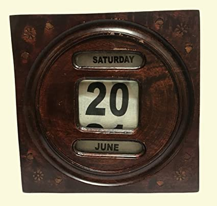 Antiques World Antique Wooden English Desk Wall Decor Vintage Edwardian  Office Wall Mounted Perpetual Scrolling Calendar - Amazon.com : Antiques World Antique Wooden English Desk Wall Decor