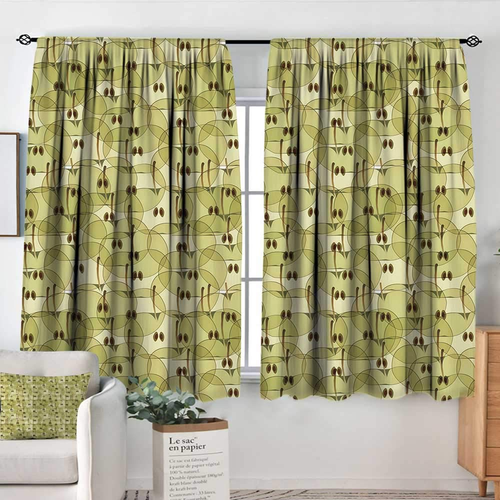 color03 63 W x 63 L Elliot Dgoldthy Waterproof Window Curtain Apple,Funny Cartoon Hedgehog and Mouse Carrying Apples Happy and Playful Kids Design,Grey Red Yellow,Blackout Draperies for Bedroom 42 x54