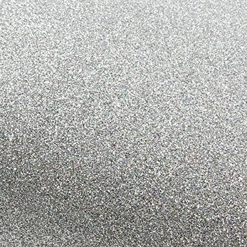 Peel & Stick Glitter Sand Crafting Tape Self adhesive Removable Border Sticker Interior Film 3 inch X 5yard (Silver) (For Glitter Wallpaper Wall)