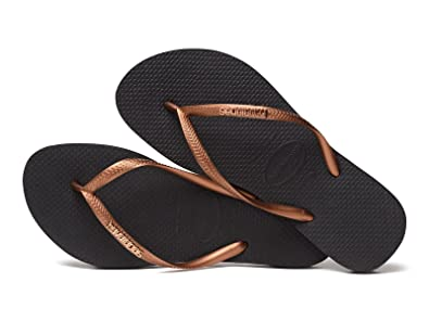 f70ce7c070 Image Unavailable. Image not available for. Color  Havaianas Brazil Women`s Flip  Flops Black ...