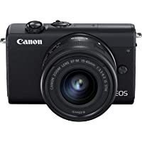 Canon EOS M200 with EF-M 15-45mm f/3.5-6.3 IS STM Lens - Black