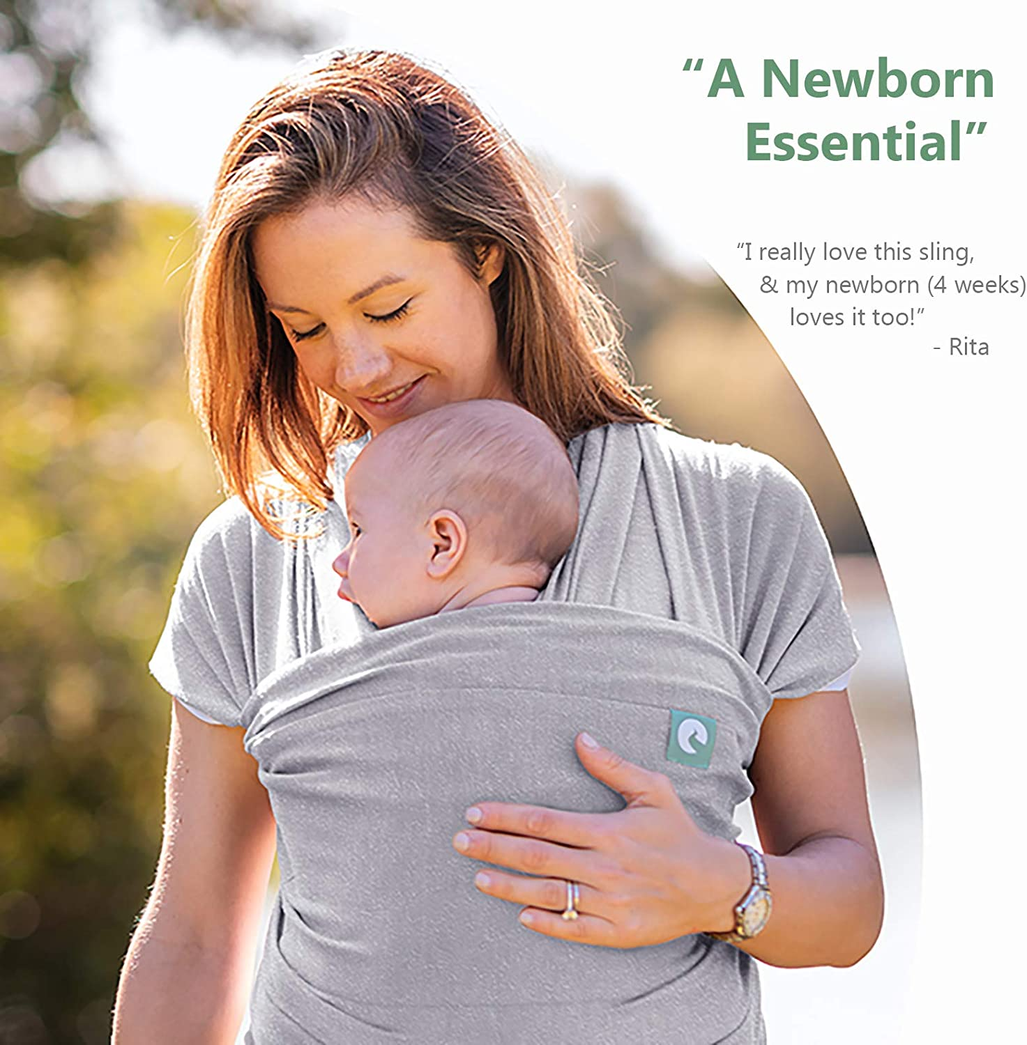 The Pocket Wrap/™ Baby Sling Wrap Naturally Soft Black Newborn to Toddler Carrier