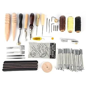 Fdit 59 Stück Leder Handwerk Nähen Werkzeug Hand Nähen Nähen Prong