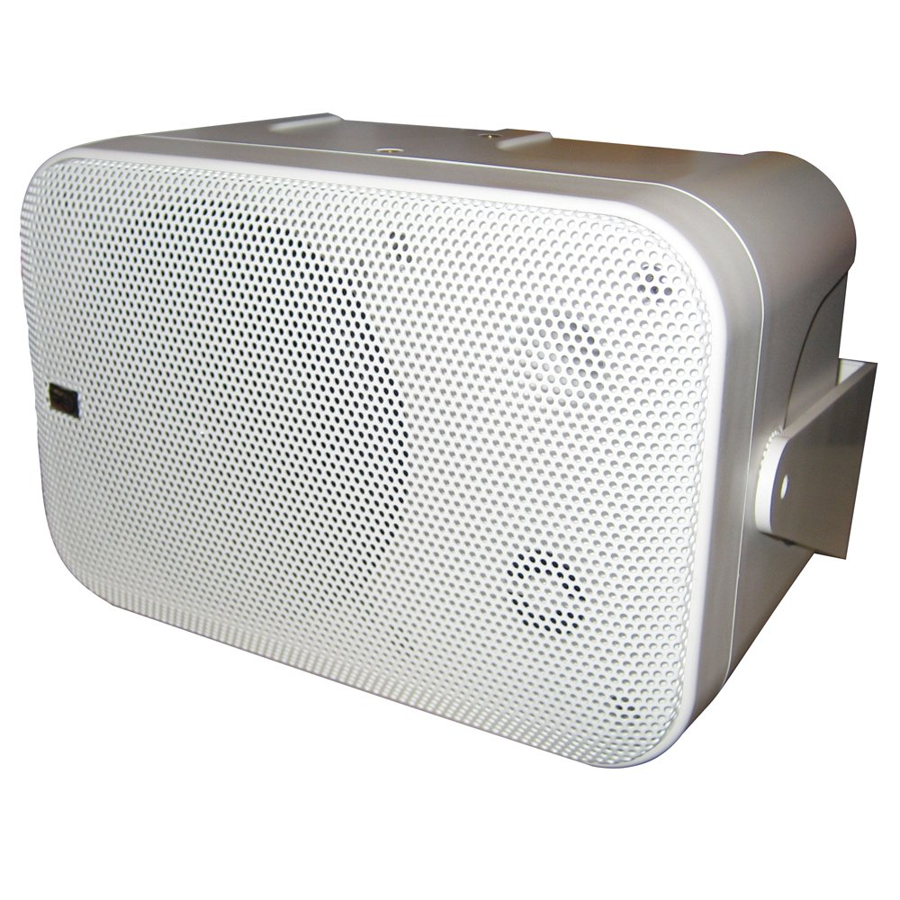 Poly-Planar B0X 200W White Waterproof Full Size Box Speakers Pair