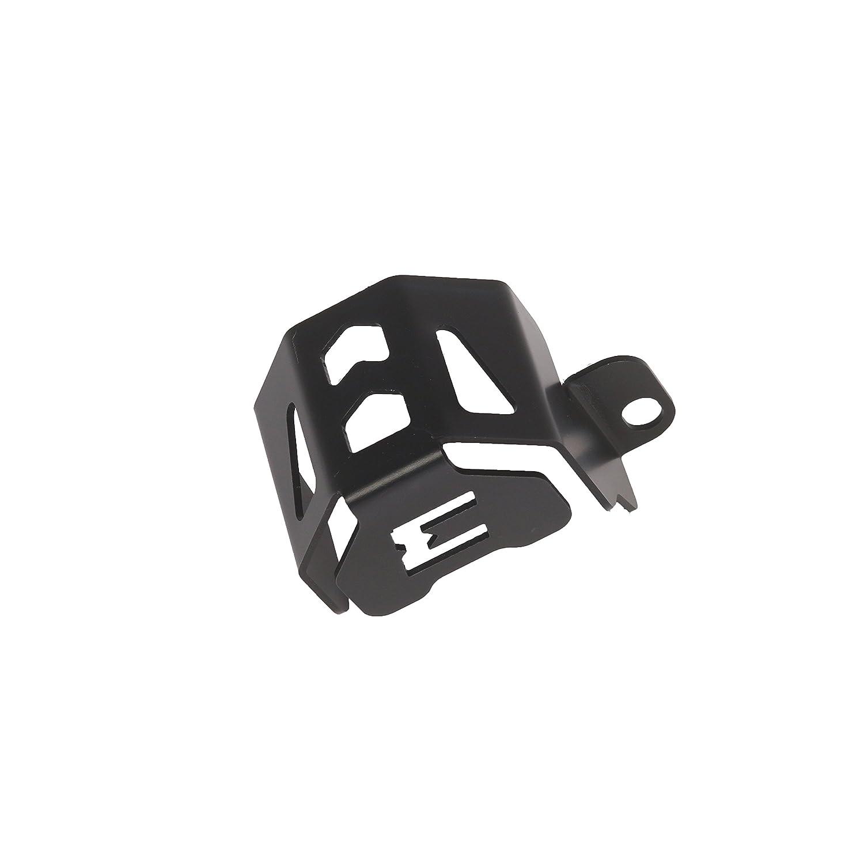 Protezione serbatoio olio freno anteriore anodizzato nero per MyTech BMW F 800 GS//BMW F 700 GS dal 2013