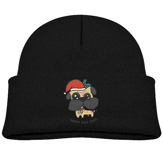 d8047579d Amazon.com: BOY64BEANIE Pug Dog Christmas Puppy Casual Children ...