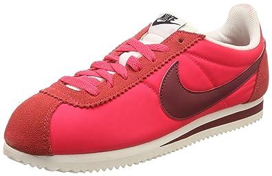 online retailer dc49b 7e655 Nike Women's WMNS Classic Cortez Nylon Siren Team Red-Sail ...
