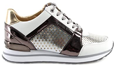 79fa551a6c3 Image Unavailable. Image not available for. Color: Michael Michael Kors  Women's Billie Perforated Metallic Sneaker ...