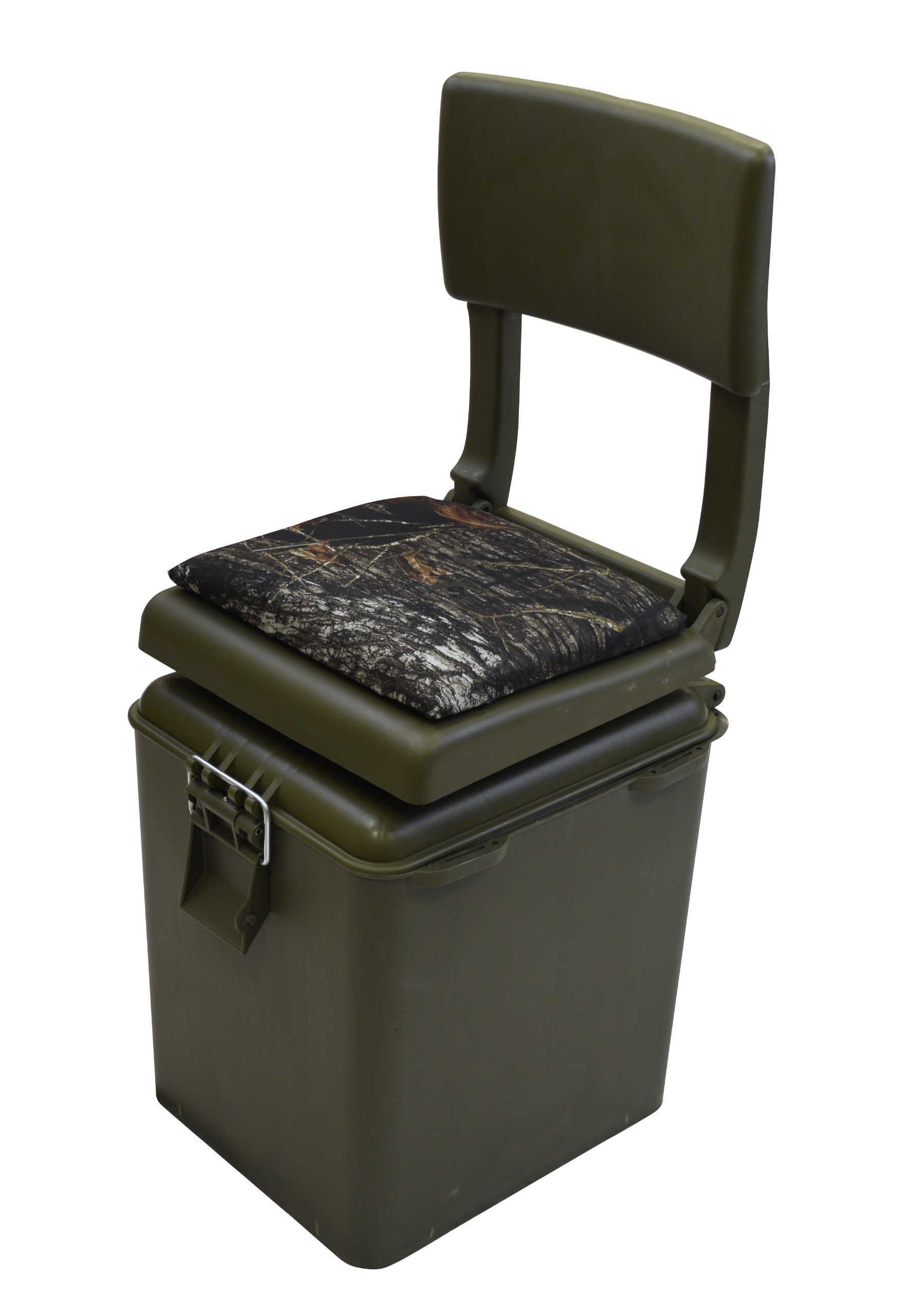 Wise Outdoors Super Sport Hunting Seat with Insulated Cooler, OD Green/Break-Up Camouflage