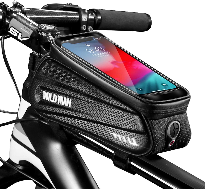 f/ür iPhone Samsung Smartphone bis zu 6,5 Zoll Faireach Rahmentasche Fahrrad mit Handyhalterung Oberrohrtasche Fahrrad Handy Halterung Wasserdicht mit Fenster f/ür Touchscreen