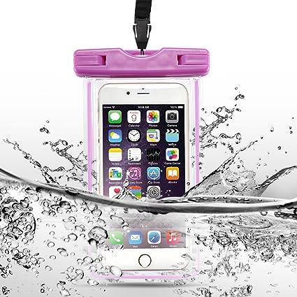 SpiritSun Imperméable Housse Coque Pochette Étanche [Certifiée IPX8], Housse Téléphone Étanche et Transparente Waterproof Universal 6 Pouces Étui pour ...