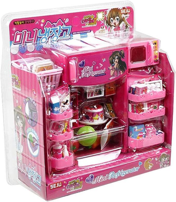 Amazon.com: Rara s juego de Mini nevera de alimentos rosa ...