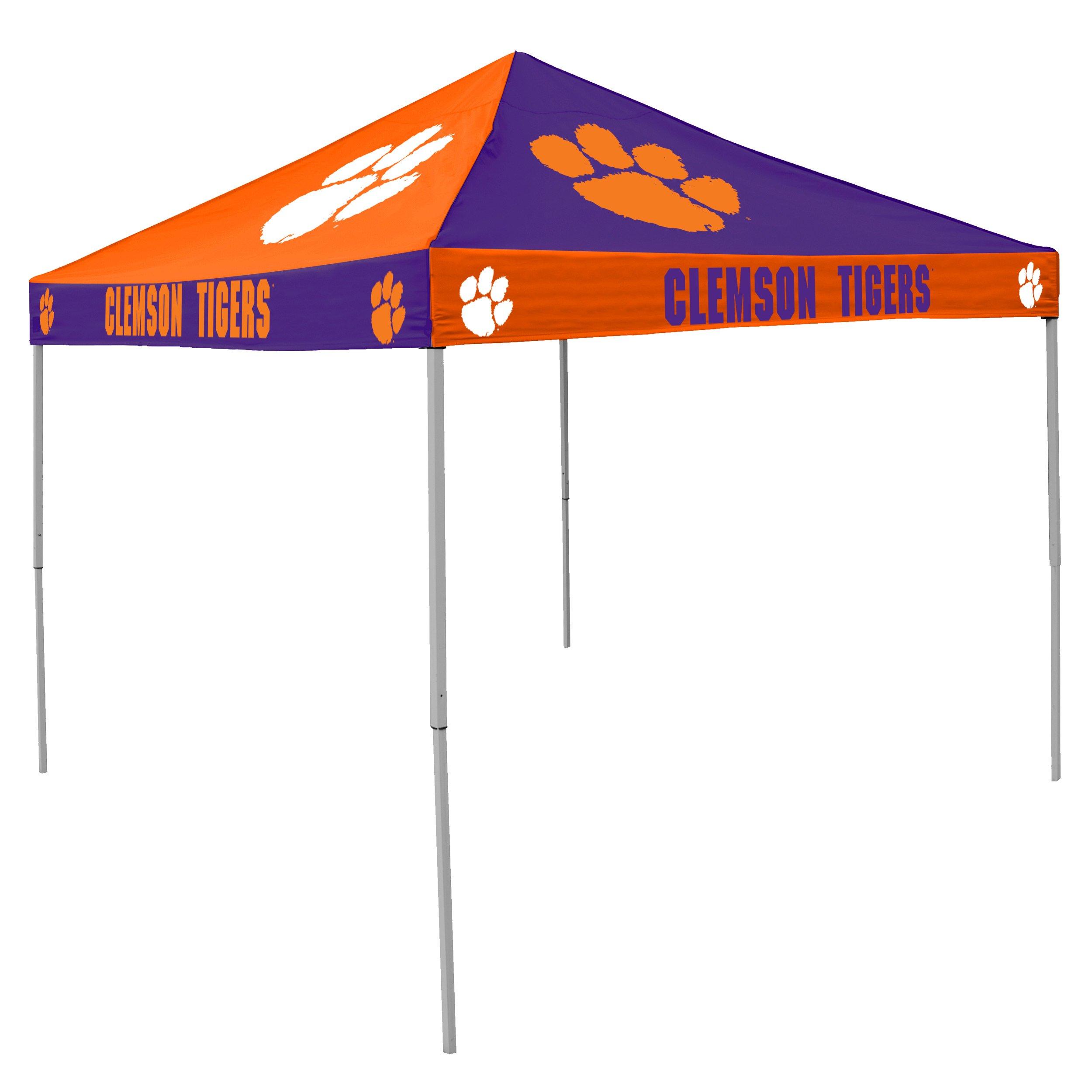Logo Brands NCAA CB Tent, Clemson, 9 foot X 9 foot