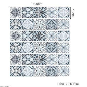 QQA Treppen Aufkleber Fußboden Abziehbilder Retro Dekoration 3D Refurbished  DIY Aufkleber Kunst Entfernbar Wasserdicht Selbstklebend Kreativ