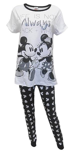 """Disney Minnie Mouse """"Black & White"""" Mujeres Pijamas S"""