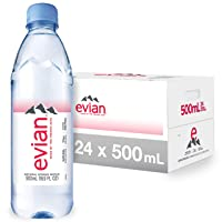 evian Natural Spring Water 500 mL/16.9 Fl Oz (Pack of 24)