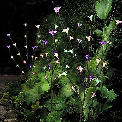 3Pcs Ornamental 60 LED White Color Garden Patio Solar Light Leaf Tree Lighting