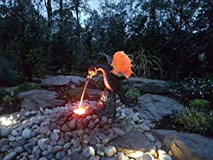 Precision Casting Fire-breathing Dragon Sculpture Waterscape & Water Spray Dragon Pattern Resin Waterscape Sculpture, Suitable for Gardens, Patios, Fountain Centres or Pool Decorations (multcolor)