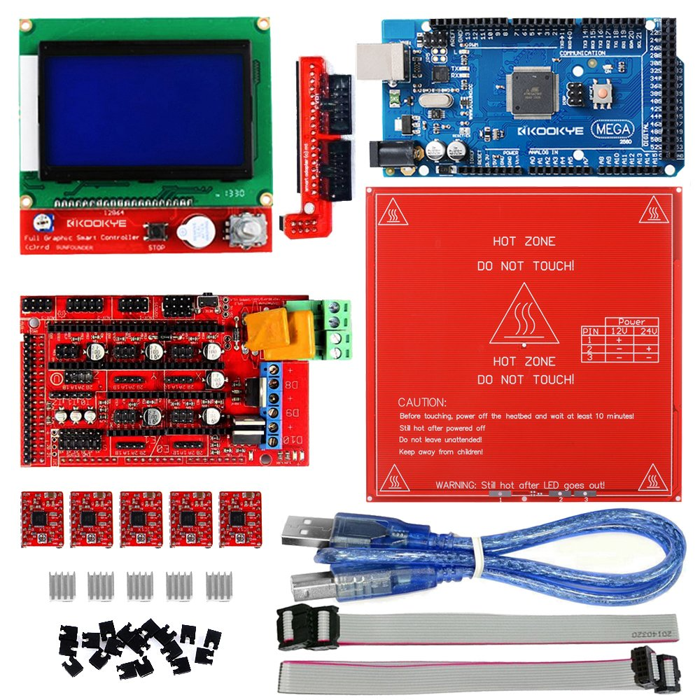 kookye Impresora 3d Kit w/PCB MK2B Heat cama para Arduino ...