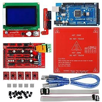 kookye Impresora 3d Kit w/PCB MK2B Heat cama para Arduino RepRap ...