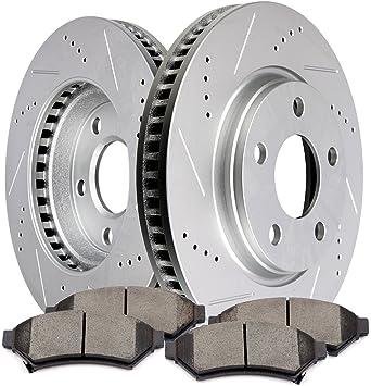 Front Drill Slot Brake Rotors Pads For LACROSSE TERRAZA GRAND PRIX UPLANDER