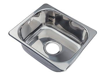 Petit carré design Évier de cuisine à encastrer en acier inoxydable ...