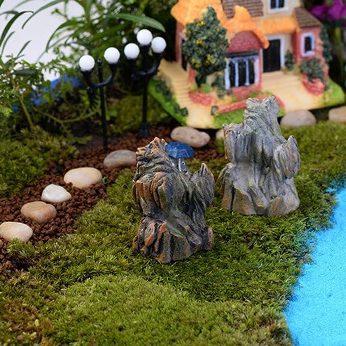Amazon.es: Jardín de Rocalla Micro Paisaje Embarcaciones de Rock Colinas Artificiales Resina Decoración: Juguetes y juegos
