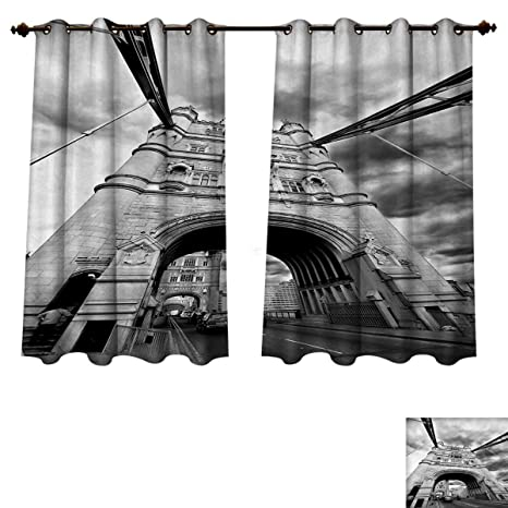 Delicieux Anzhouqux Modern Blackout Thermal Curtain Panel Tower Bridge London England  Urban Street Traffic European Historical Picture