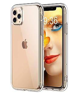 """Bovon Funda para iPhone 11 Pro MAX, Carcasa Transparente Ultrafina para iPhone 11 Pro MAX, Protección Anti Choques y Caídas, Suave Silicona TFU, Funda Anti Arañazos para iPhone 11 Pro MAX 6.5""""(2019)"""