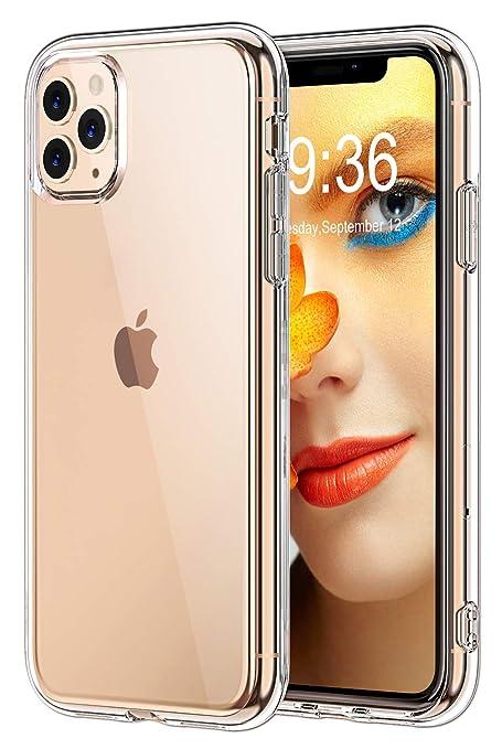 Bovon Funda para iPhone 11 Pro MAX, Carcasa Transparente Ultrafina para iPhone 11 Pro MAX, Protección Anti Choques y Caídas, Suave Silicona TFU, Funda ...