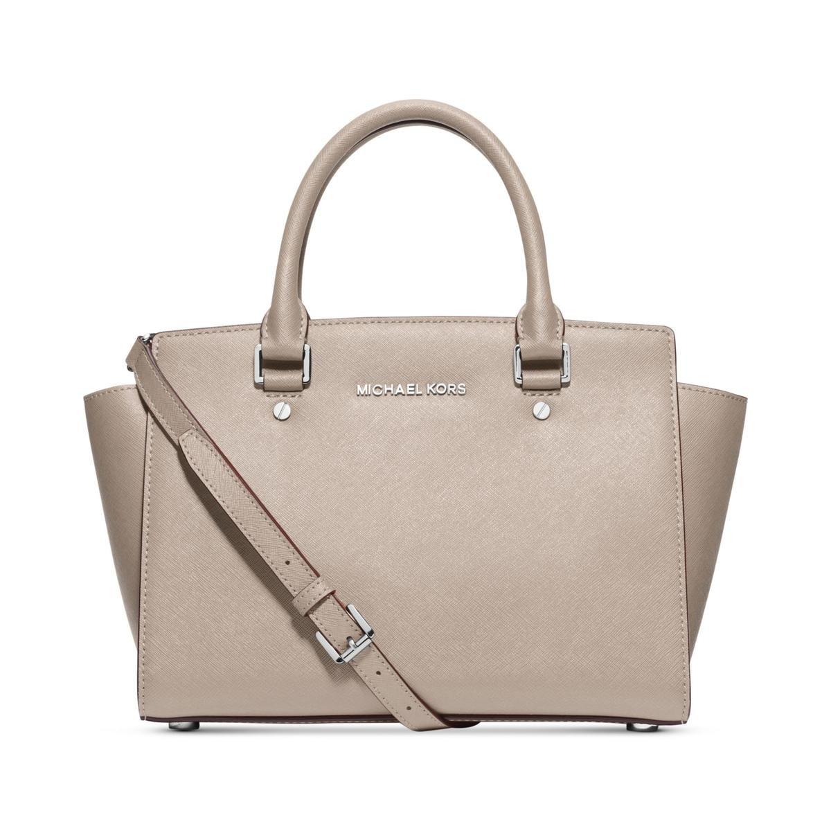 8a3b539ad258 MICHAEL Michael Kors Selma Medium Satchel Dark Dune Gold  Amazon.co.uk   Shoes   Bags