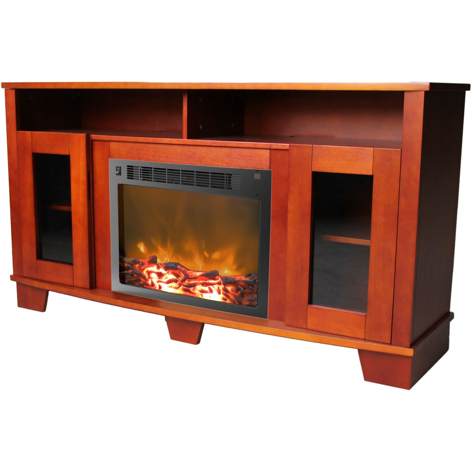 Cheap legends furniture cambridge fireplace media center in cherry - Amazon Com Cambridge Savona Fireplace Mantel With Electronic Fireplace Insert White Home Kitchen
