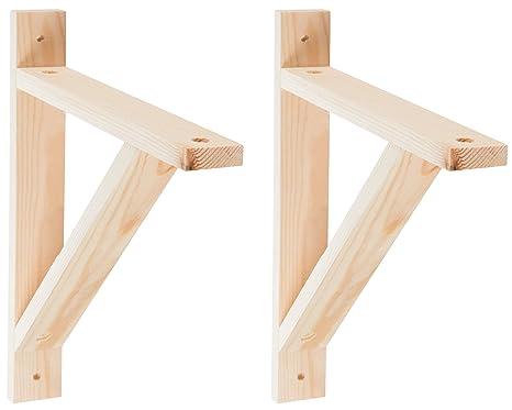 Wood Bracket 2 Pack Wood Shelves Bracket Wall Mount