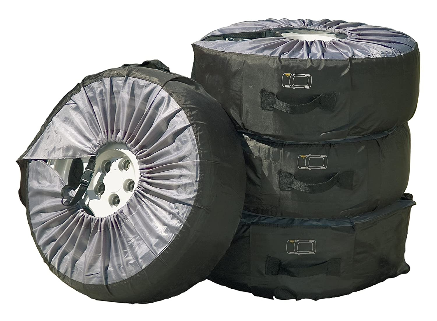 Cartrend Tire pouch, set of 4, up to 17' and 225 mm tire distance up to 17 and 225 mm tire distance 50122