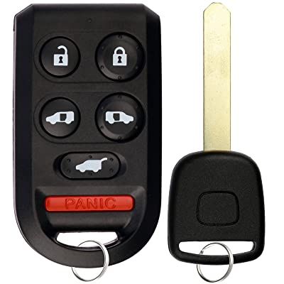 KeylessOption Keyless Entry Car Remote Fob With Uncut Ignition Transponder Key Replacement For OUCG8D-399H-A: Automotive
