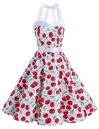 e2e393785 Dresstells Vintage 1950s Rockabilly Polka Dots Audrey Dress Retro Cocktail  Dress - -: Amazon.co.uk: Clothing