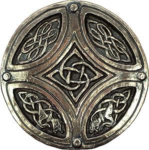 Wild Goose Studios Irish Plaque Celtic Knot Circle Cross Bronze Coated Resin Cast Sturdy 5 Inches Diameter Made In Ireland