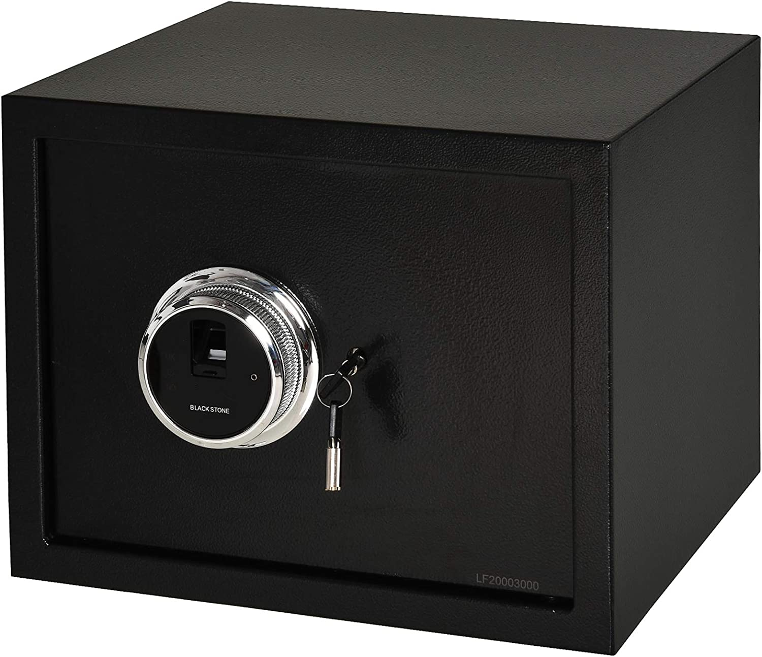 HOMCOM Steel Fingerprint 0.95Cubic Feet Safe Box for Home or Office with 2 Emergency Keys and Removable Shelf