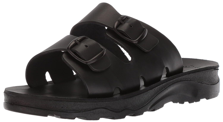 Jerusalem Sandals Men's The Good Shepherd Molded Footbed Slide Sandal B075MQJ3M6 45 Medium EU (12-12.5 US) Black