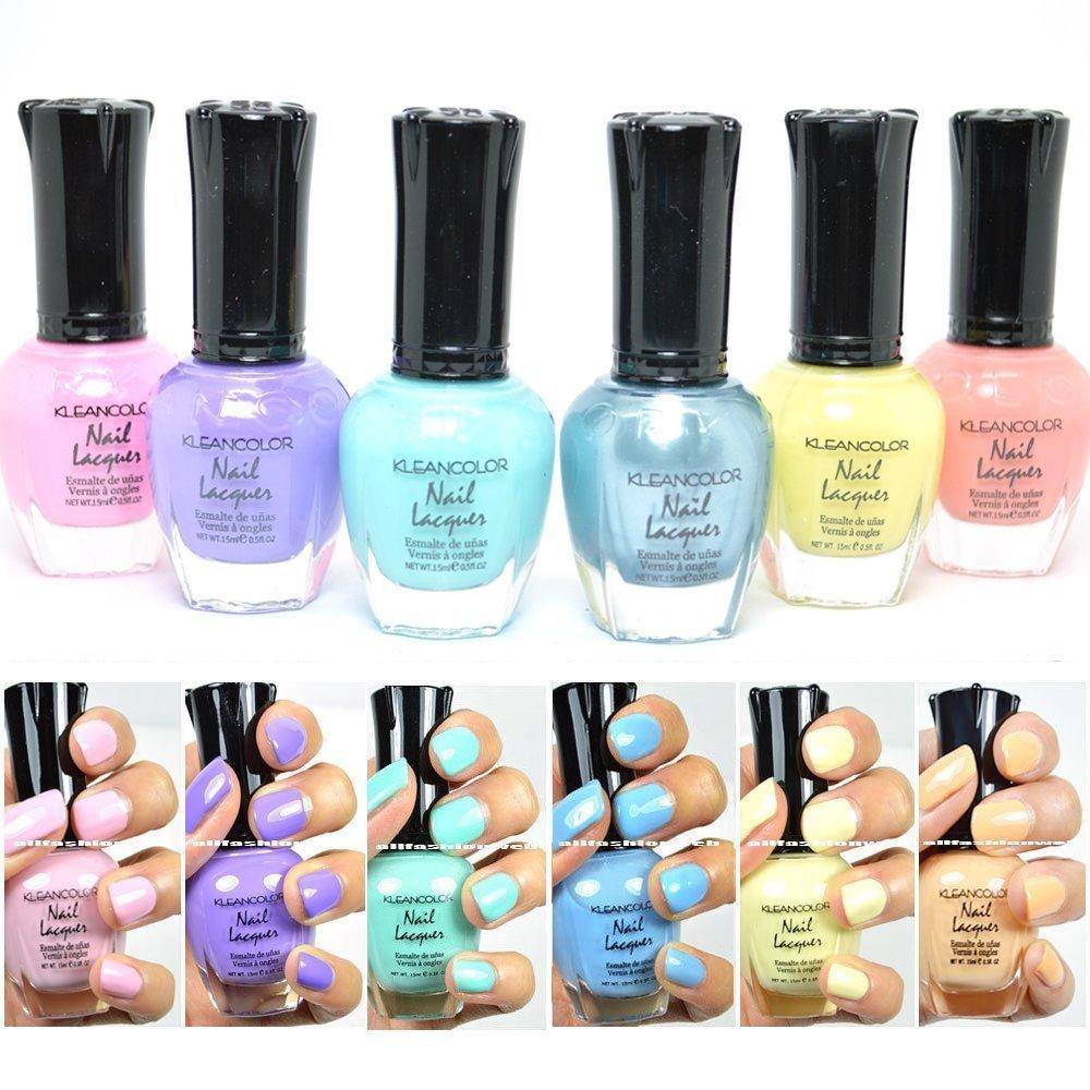 Amazon.com : Kleancolor Neon Nail Lacquer 6 Colors Set