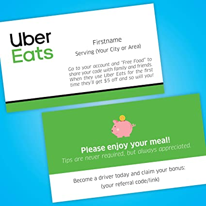 Sebastian Branding | Marketing | Hosting Support products made for  Rideshare and Delivery Drivers — Uber Eats Business Cards (5000)