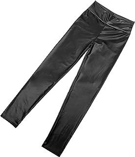 product image for Funfash Plus Size Women Pants Vegan Leather Black Skinny Leggings Made in USA