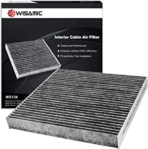 WISAMIC Cabin Air Filter Replacement for Honda & Acura includes Activated Carbon WS134 (CF10134), Replace 80292-SDA-A01