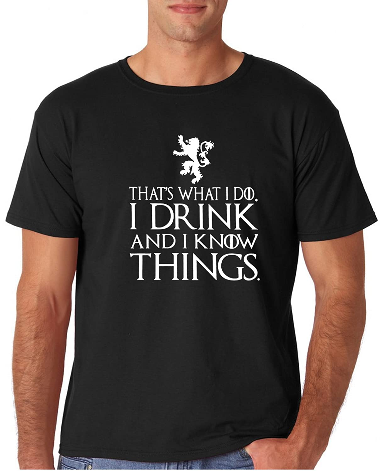 95239a8a2 12.99 Prime Tees Adult That's What I Do I Drink And I Know Things T Shirt