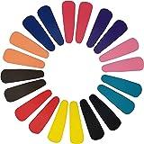 EVOGIRL Multicolour Metal Tic Tac Matte Blissful Snap Hair Clips for Women (Pack of 20)