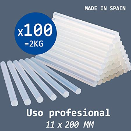 20/ pcs 11/ x 200/ mm Hot Melt Glue adh/ésif b/âton Blanc transparent pour travaux manuels
