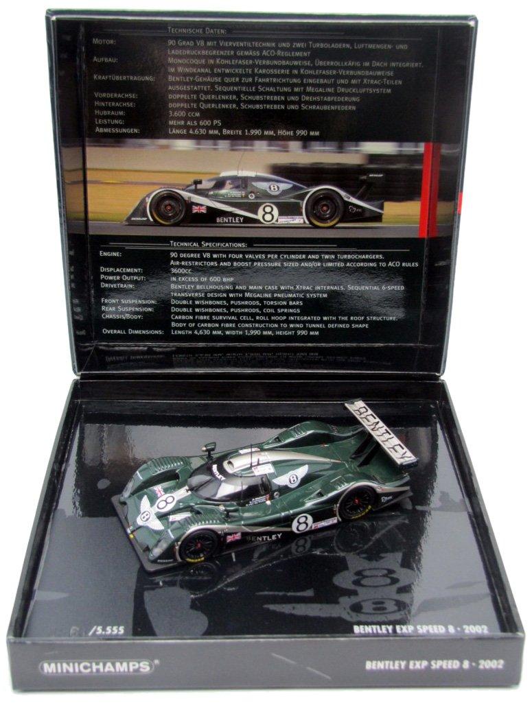 Minichamps 1/43 Scale diecast - 436 021308 Bentley EXP Speed 8 Le Mans 24H 2002 B003OUWU8S