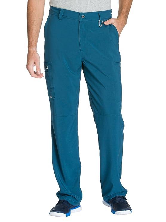 Cherokee Infinity CK200A Men's Fly Front Cargo Pant Caribbean Blue XL Short best men's scrub pants