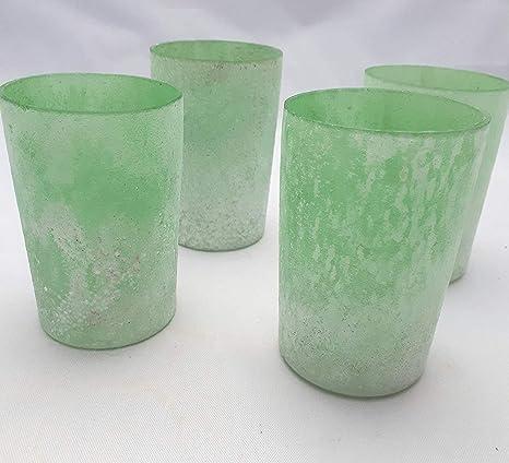 Trend 4 Hohe Teelichthalter Grün Reif Handarbeit